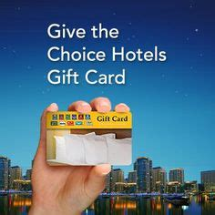 Choice Hotel Gift Card - graphic for use with the gbj article hotel brands pinterest