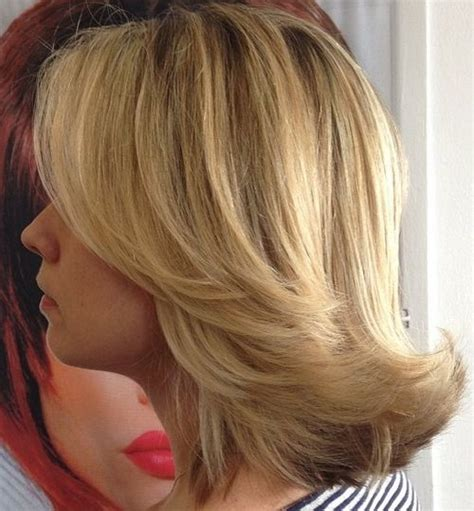 shaping back of hair to flipin with a layer cut 40 best medium straight hairstyles and haircuts stylish