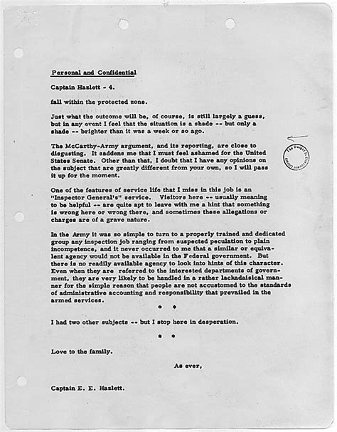National Insurance Letter War War Letters Home President Dwight D Eisenhower Letter Concerning