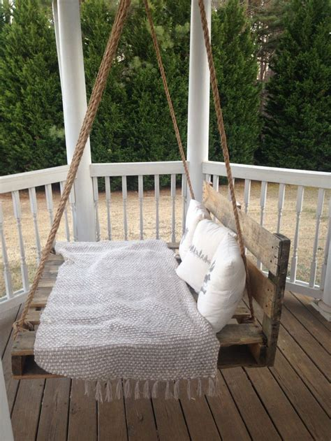 pallet porch swing reclaimed pallet swing bed porch swing