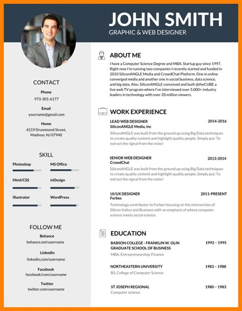 Effective Resume Templates by 5 Effective Resume Templates Gcsemaths Revision