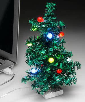 usb mini led christmas tree tiny tinsel tree powered by usb