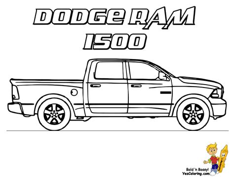 dodge truck coloring pages american truck coloring sheet free truck