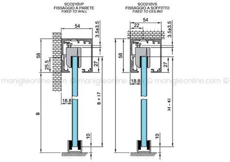 porte scorrevoli a soffitto sistema scorrevole ammortizzato per vetro fissaggio a