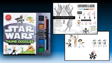 thumb doodles book make thumbprint versions of wars characters mightymega