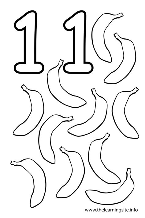 Free Coloring Pages Of Numbers 11 Number 11 Coloring Page