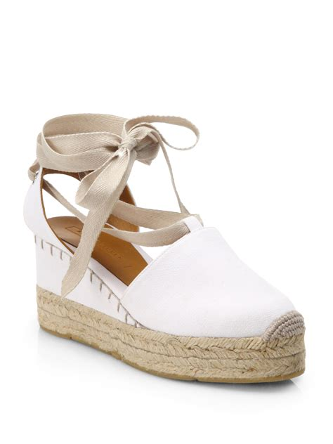 espadrille sandals lyst ralph collection uma tieup canvas espadrille
