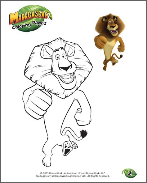 madagascar map coloring page color alex 2 view fun free coloring page for kids