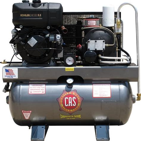 cas portable rotary screw air compressors  compressed
