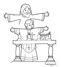 Mass Coloring Pages sacraments coloring pages