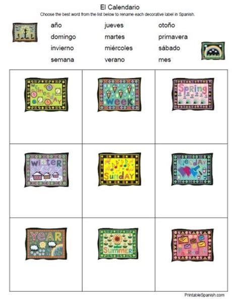 El Calendario Worksheet Printable Freebie Of The Day El Calendario