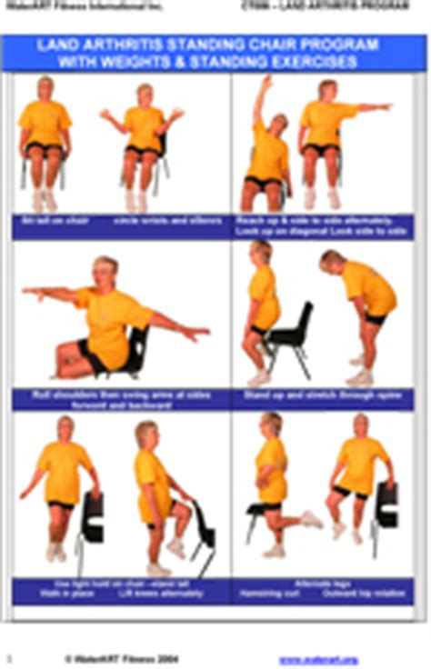 Armchair Exercises Adults by Waterart Fitness Land Aquatic Fitness Certification