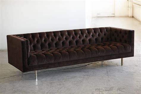 velvet tufted sofas modern deeply button tufted velvet tuxedo sofa in