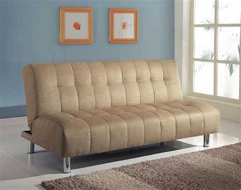 Microfiber Futon Sofa Bed by Sylvia Beige Microfiber Adjustable Sofa Bed Futon