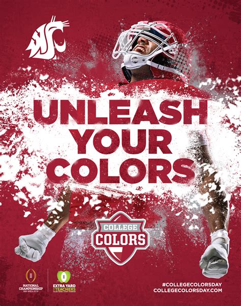 wsu colors college colors day events washington state