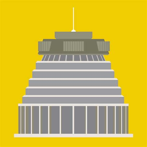 Design Icon Wellington | beehive wellington modern art print by hamish thompson