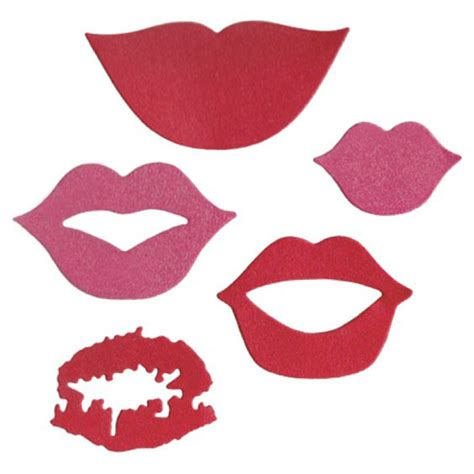lifestyle crafts die cutting template lips