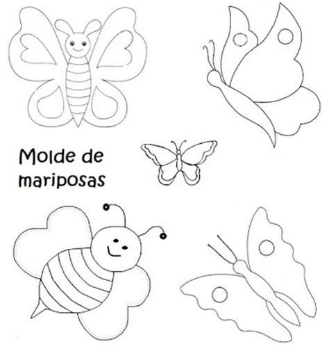 molde gratis de mariposa para imprimir moldes de flores mariposas y hojas recrear