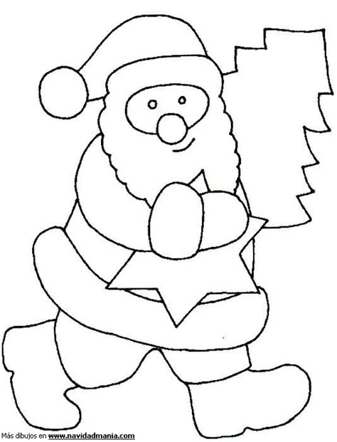 dibujos de navidad para colorear de santa claus dibujo de santa claus infantil para colorear de navidad