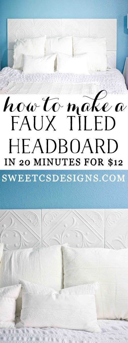 faux headboard diy faux tiled headboard awesome this is awesome and dr who
