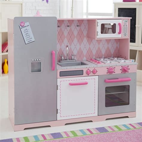 Small Kitchen Table And Bench Set - pink kids kitchen kitchen ideas