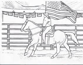rodeo coloring pages rodeo coloring pages rodeo flag color page by