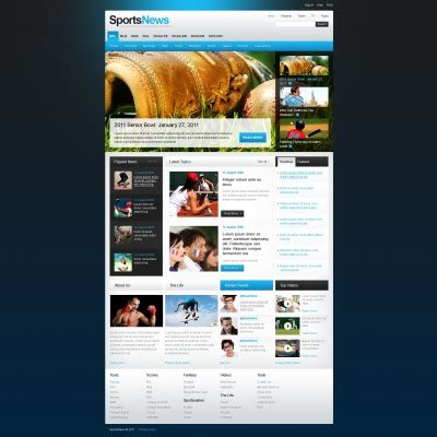 sports news psd templates