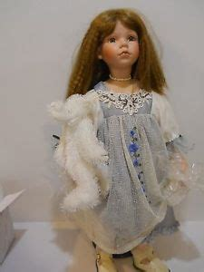 duck house dolls heirloom edition lisha doll by duck house heirloom edition porcelain red brown hair blue dress ebay