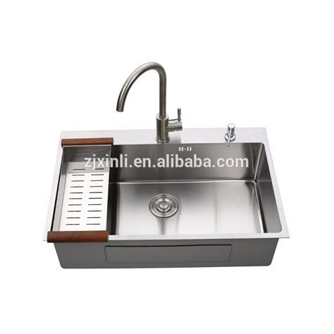 above counter kitchen sinks 78 50cm sus304 stainless steel above counter rectangular