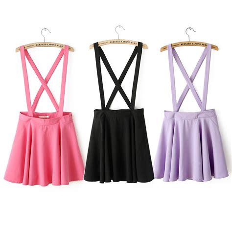 suspender skirts from true blue qt on storenvy