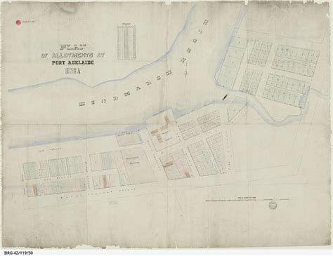 section maps south australia plan of allotments at port adelaide section a