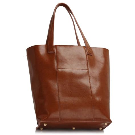 Xlarge Shopper Handbags xardi brown large genuine leather shopper tote