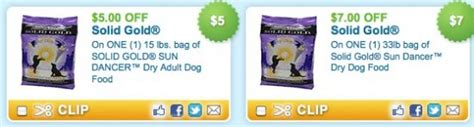 Printable Solid Gold Dog Food Coupons | 15 in solid gold sun dancer dry dog food coupons