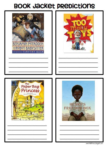 picture books for predicting book jacket predictions my 2nd and 3rd graders enjoy