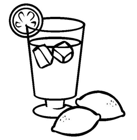 lemonade from lemon coloring page coloring sky