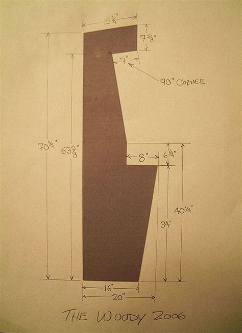 arcade cabinet dimensions woodworking projects plans