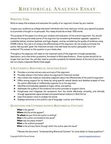Exles Of An Analysis Essay by Rhetorical Analysis Prompt Writingteachertools
