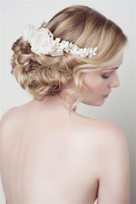Kopfschmuck Braut Offene Haare by Lace Silk Flower Headband 214hb Chic Vintage Brides