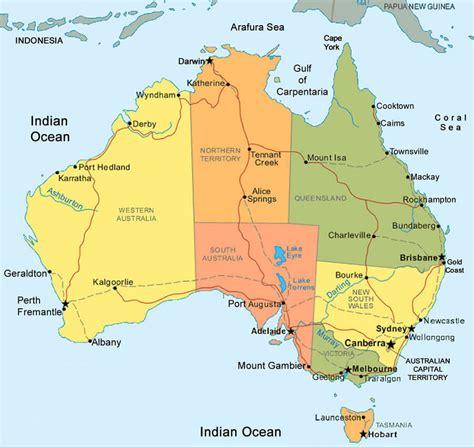 a map of australia australia map
