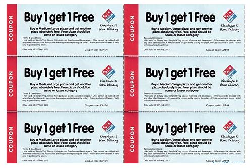 dominos web coupons