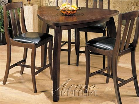 5 counter height dining set with triangular