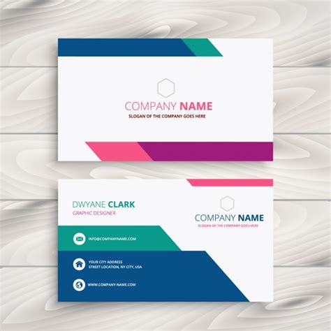 company id card design vector creative business card in colorful style vector free