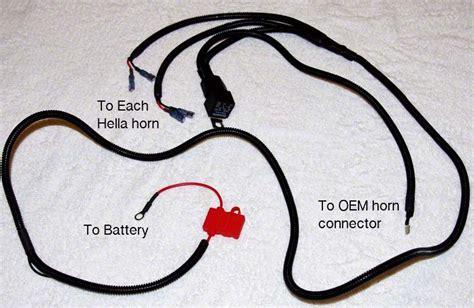 harness wiring kit for horn wolo horn wiring kit