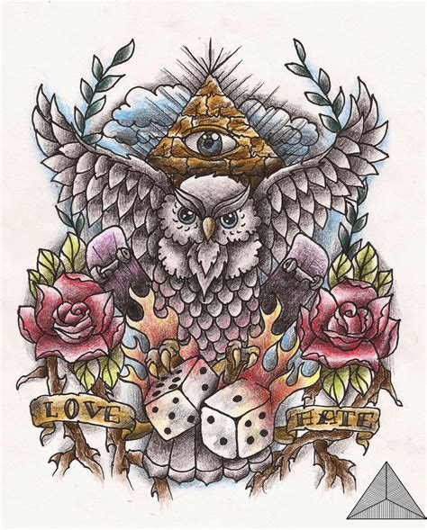 old school tattoo designs the gallery for gt new school owl drawings