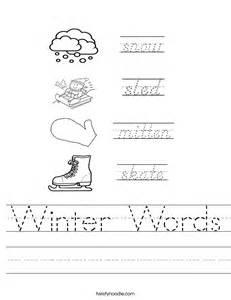 winter words worksheet twisty noodle