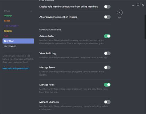 discord nightbot nightbot doesn t sync roles on discord nightbot