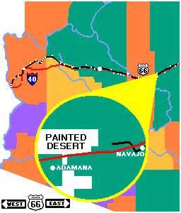 painted desert arizona map painted desert