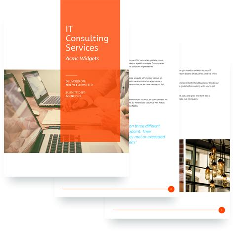 it services proposal template free sle