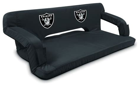raiders couch oakland raiders reflex portable reclining travel couch in