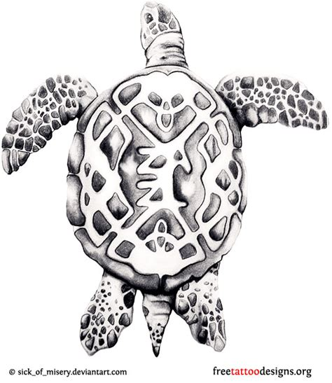 turtle tattoos polynesian and hawaiian tribal turtle designs